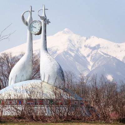 津軽富士見湖に面した広大な公園施設