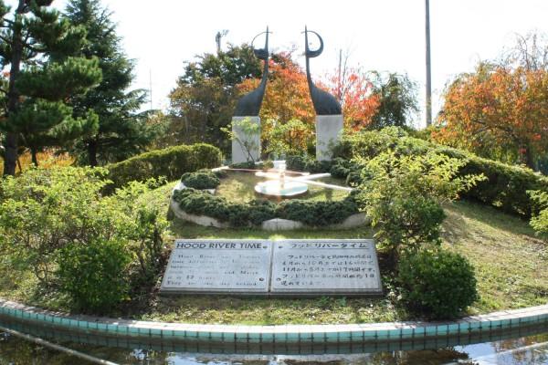 鶴寿公園にある鶴のモニュメント