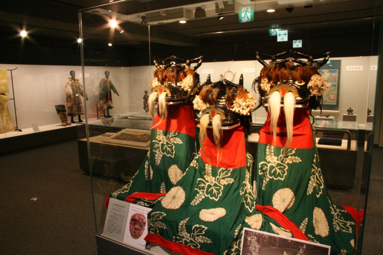青森県鶴田町の獅子展示