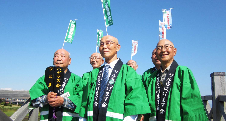 鶴田町観光PRイベント ツル多はげます会との吸盤綱引き対決