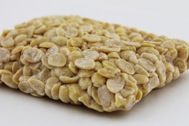 鶴田町の特産品・テンペ(大豆の発酵食品)