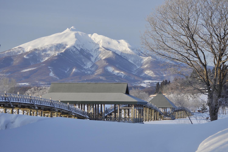 冬の津軽富士見湖