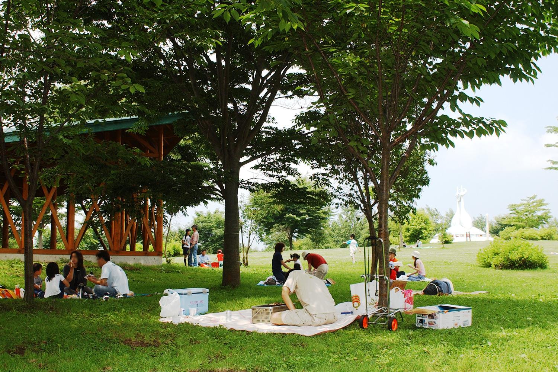 富士見湖パークでピクニック