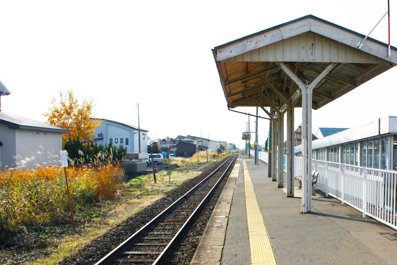 陸奥鶴田駅からの風景