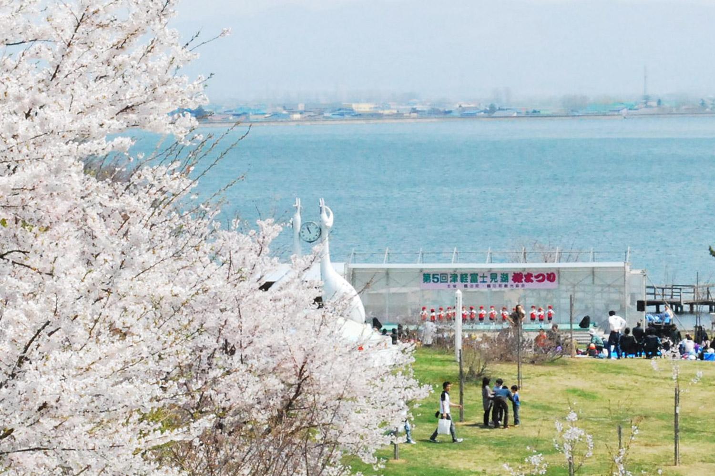 津軽富士見湖桜まつり期間に開催される津軽富士見湖一周マラソン大会
