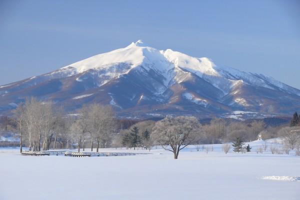 富士見湖パークから見る岩木山