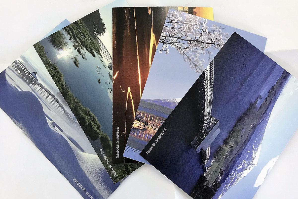 四季と上空から橋を収めたポストカード5枚セット