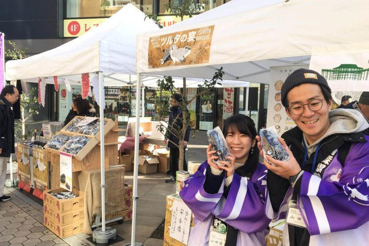 2019年2月に東京浅草で行われた鶴田町観光PRイベント『ツルタの宴』で鶴田町をPR