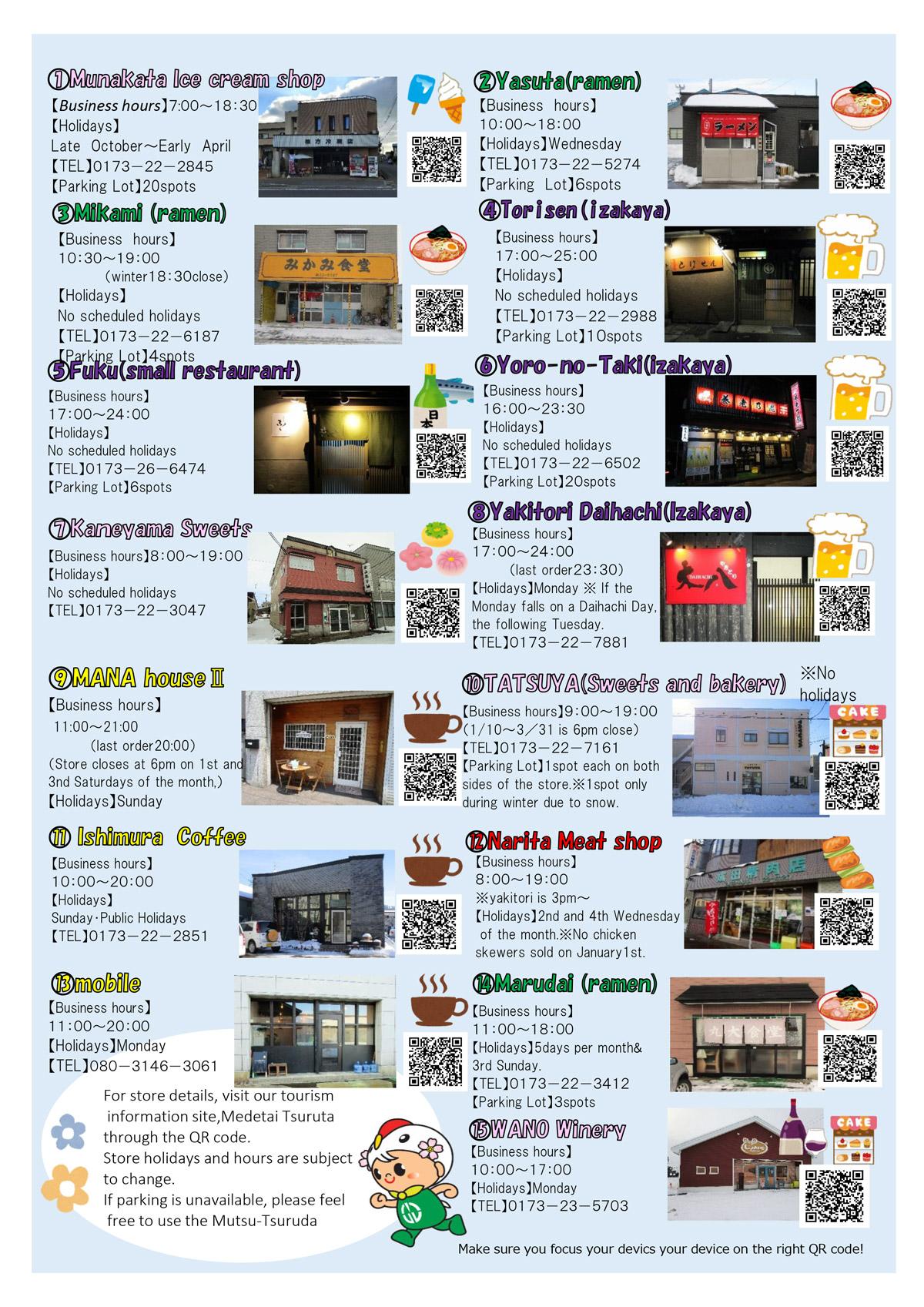 Tsuruta Food & drink map
